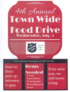 Town Wide Food Drive 2015 001