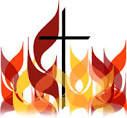 cross and flames