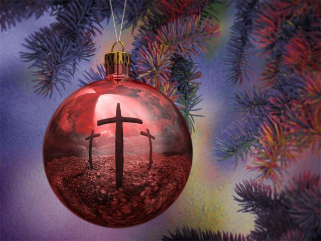 Christmas ball with Cross