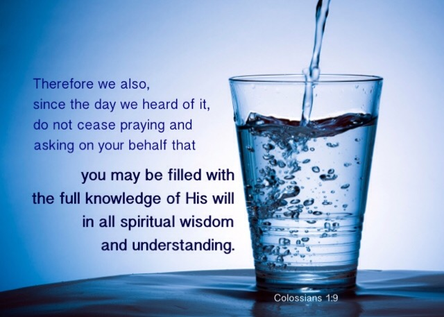 Col 1 verse 9